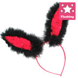 Hen Party Red Fluffy Bunny Ears