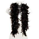 Hen Night 1.5 Metre Black Glitter Feather Boa