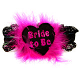 Disco Bride to Be Black and Pink Garter