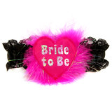 Disco Bride to Be Silver and Pink Garter