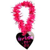 Disco Bride to Be Pink and Black Garland Necklace