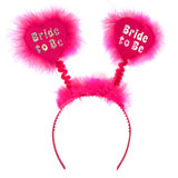 Disco Bride to Be Fluffy Silver and Pink Boppers