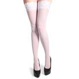 Fever Hold Up Sheer Stockings with Lace Top