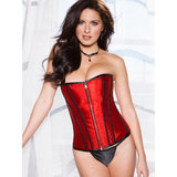 iCollection Victorian Brocade Reversible Satin Corset