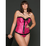 iCollection Plus Size Victorian Brocade Sweetheart Corset