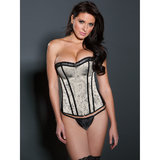 iCollection Victorian Brocade Satin Corset