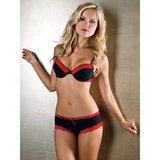 iCollection Pinstripe Bra and Knicker Set