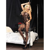 Leg Avenue Floral Fishnet Open Crotch Bodystocking