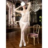 Baci Lingerie Plus Size Halter Neck Crotchless Fishnet Bodystocking