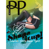 Pretty Polly Shape It Up Black Mock Suspender Tummy Shaper Tights