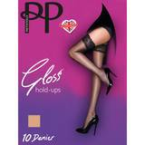 Pretty Polly Gloss Lace Top Hold Ups Nude