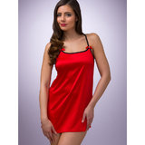 Lovehoney Lace-Up Satin Chemise Red