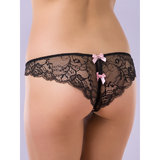 Lovehoney Spoil Me Satin Crotchless Brazilian Knickers Pink