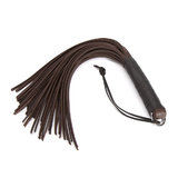 DOMINIX Deluxe BRAUN Thick Leather Flogger 20 Inch