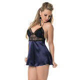 Escante Satin and Lace Babydoll