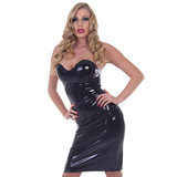Rubber Girl Latex Wear Strapless Cocktail Dress