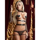 G World Midnight Straps Vinyl Buckle Teddy and Gloves Set