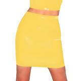 Rubber Girl Yellow Latex Skirt