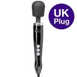 Doxy Extra Powerful Black Die Cast Massage Wand Vibrator with UK Plug