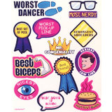Hen Night Male Rating Stickers