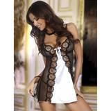 Beauty Night Michele White Satin and Sheer Chemise