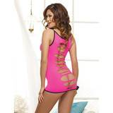 Dreamgirl Pink Diamond Reversible Mini Dress with Slash Detail