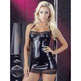 Cottelli Wet Look and Lace Halter Minidress