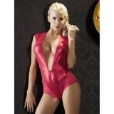 Cottelli Access All Areas Crotchless Red Wet Look Body