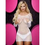 Lapdance White Crochet Long Sleeve Mini Dress