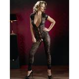 Cottelli Crotchless Lace Deep Plunge Catsuit