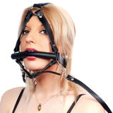 Leather Bit Gag with Reins