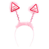 Warning Hen Party Pink Fluffy Boppers