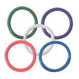 Spartacus Rainbow Rubber Cock Ring Set 1.5 Inch (5 Pack)