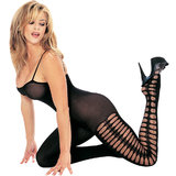 Music Legs Opaque Peephole Bodystocking