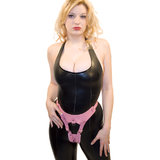 Leather Labia Chastity Belt for Women