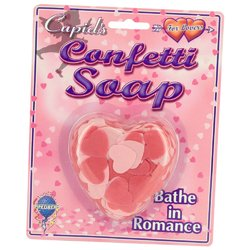 Heart Shaped Confetti Soap