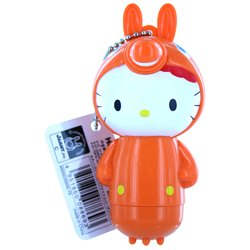 Orange Hello Kitty Keychain