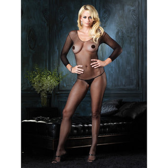 Leg Avenue Netz-Bodystocking ouvert