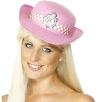Pink Police Woman Hat
