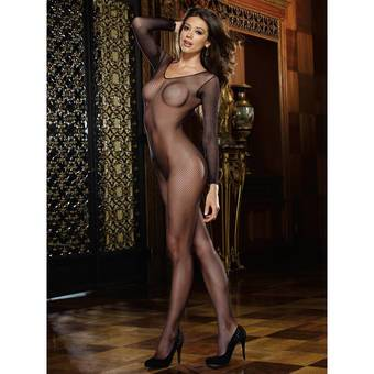 Dreamgirl Black Diamond Fishnet Bodystocking