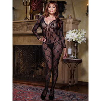 Dreamgirl Black Diamond Plus Size Schmetterling-Bodystocking
