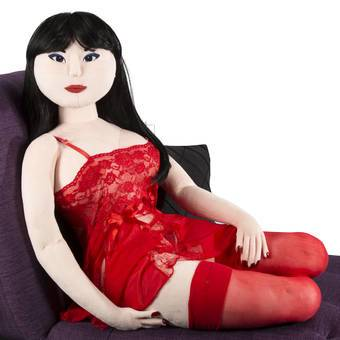 Teddy Babe Plush Sex Doll Akiko (Long Black)