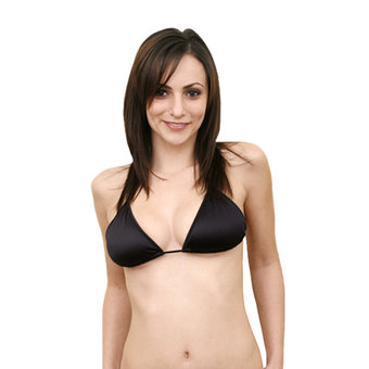 C-String Halter Triangle Top Black