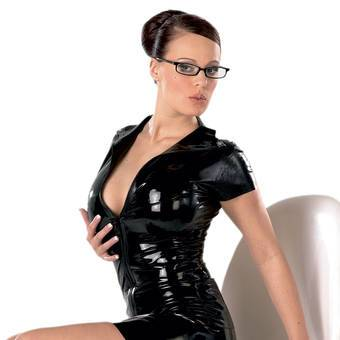 Late X Collection - Latex-Top mit Reißverschluss