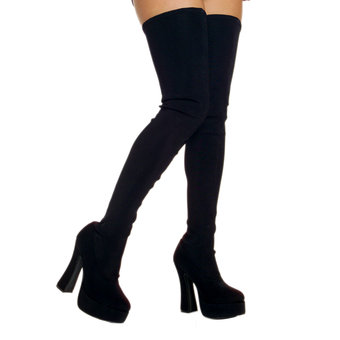 Electra 5 Inch Heel Thigh High Stretch Boots