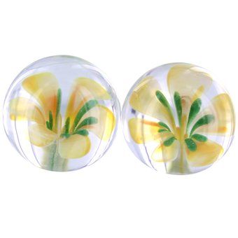 Adam and Eve Glass Flower Ben Wa Balls
