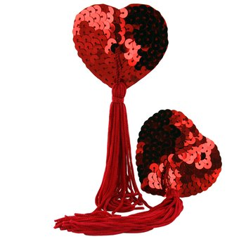 Naughty Love Heart Nipple Tassels