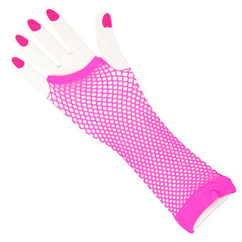 Fishnet Fingerless Gauntlet Gloves
