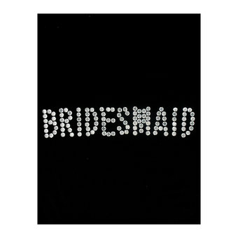 Iron On Bridesmaid Transfer with Diamante Rhinestones