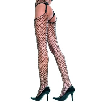 Music Legs Spandex Industrial Fishnet Garter Stockings Set